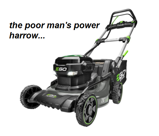 SF photo blog lawn mower power harrow