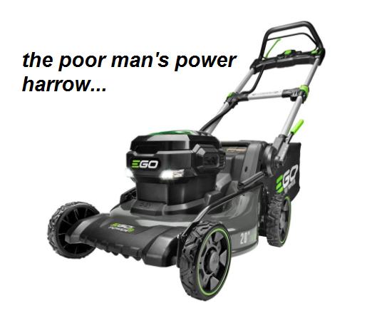 SF photo blog lawn mower power harrow