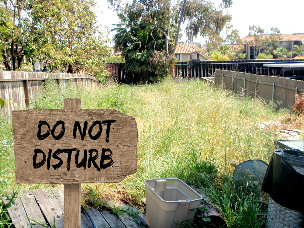 SF photo do not disturb sign